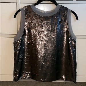 Who What Wear grey sequined tank top